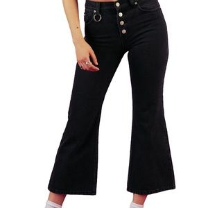 UNIF Daria Jeans with Button Front and Ring Pocket